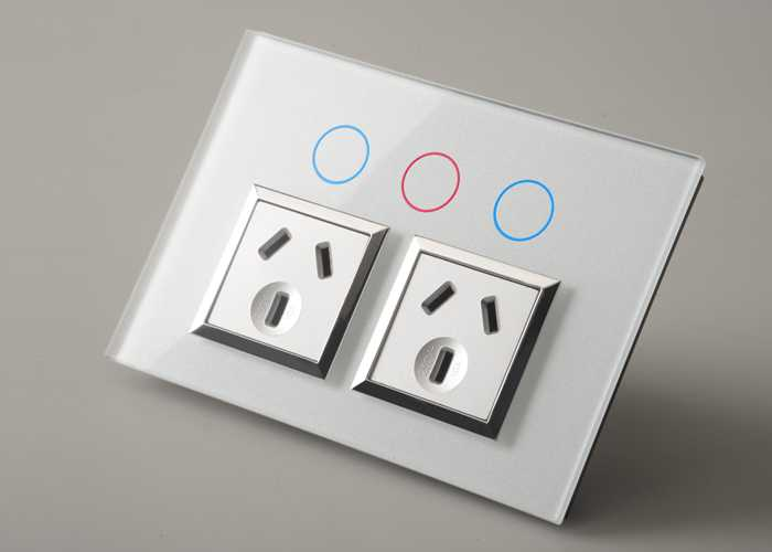 T-POD10X Double Extra Switch Power Outlet iTOUCH